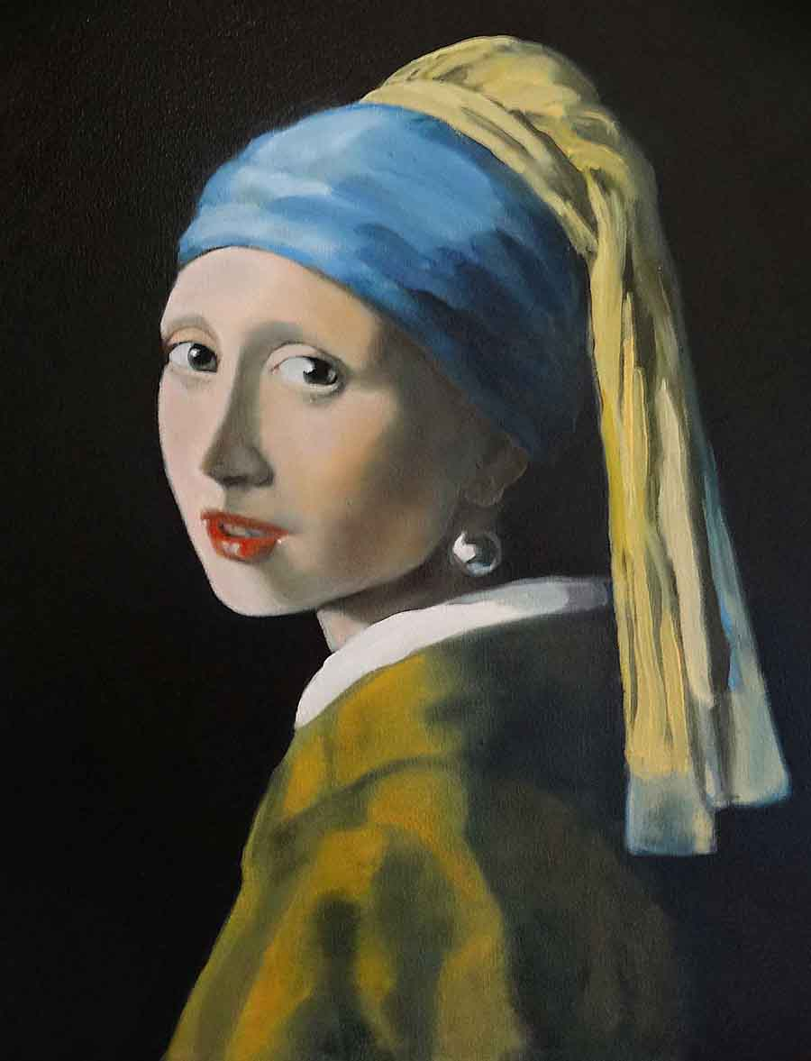 After Vermeer - Oil Painting by Gavin Cologne-Brookes