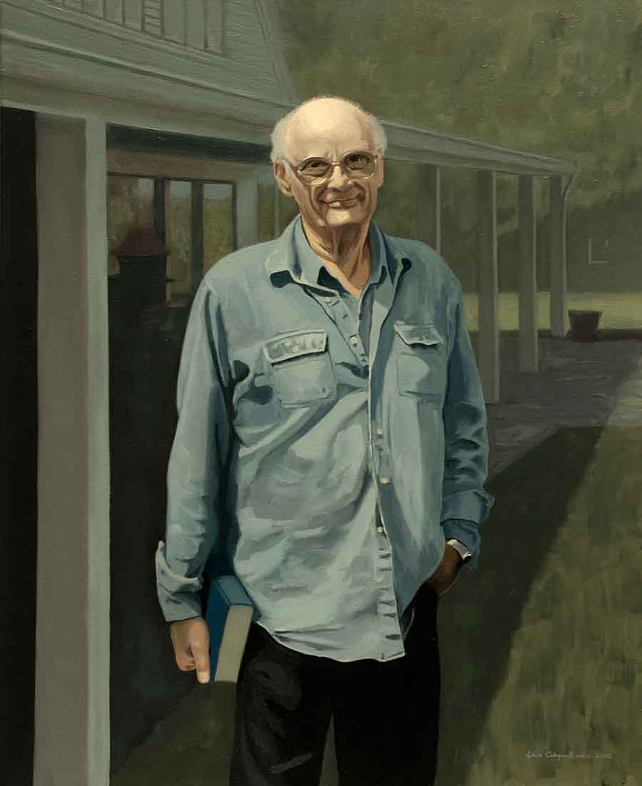 Arthur Miller - Oil Portrait Painting by Gavin Cologne-Brookes