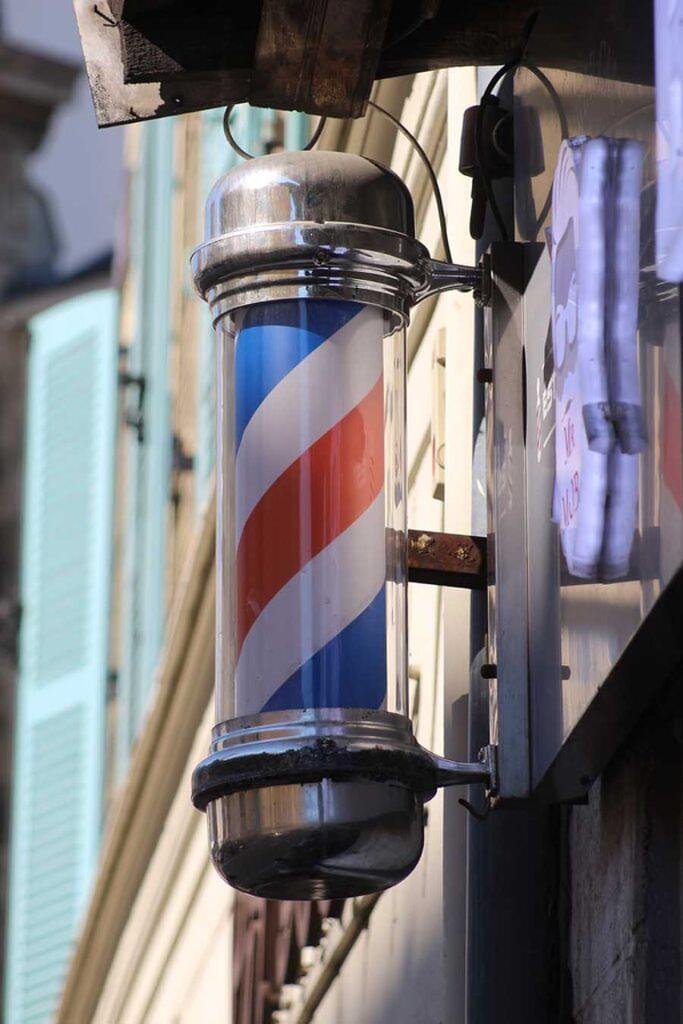 Barber Sign, Saint-Germain-en-Laye - Photographs by Gavin Cologne-Brookes