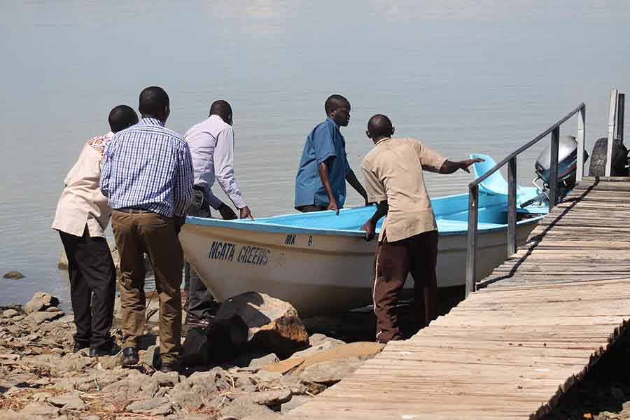 Boat Launch, Lake Baringo - Photographs by Gavin Cologne-Brookes