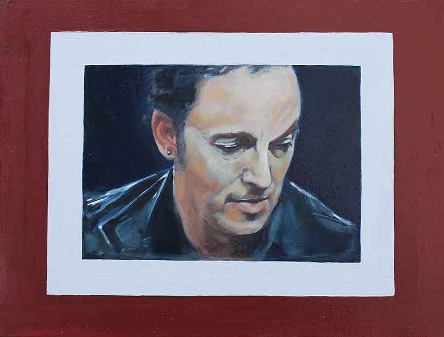Bruce Springsteen - Oil Portrait Painting and Book Cover by Gavin Cologne-Brookes