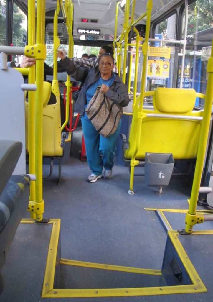Bus Rider, Rio - Photographs by Gavin Cologne-Brookes