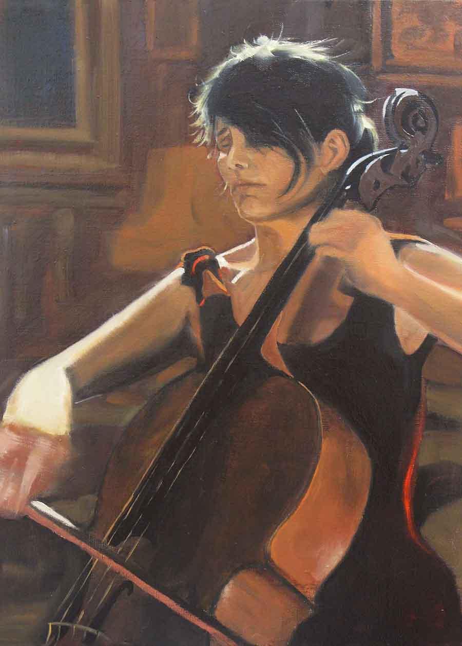Caroline Dale - Oil Portrait Painting by Gavin Cologne-Brookes