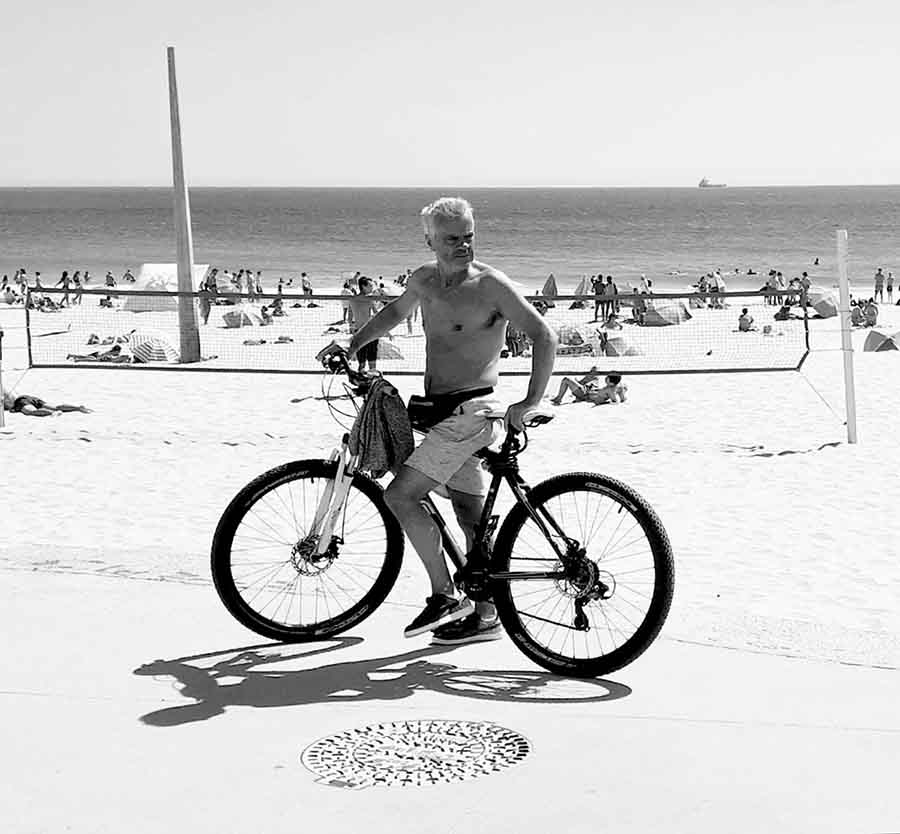 Cyclist, Carcavelos, Lisbon - Photographs by Gavin Cologne-Brookes