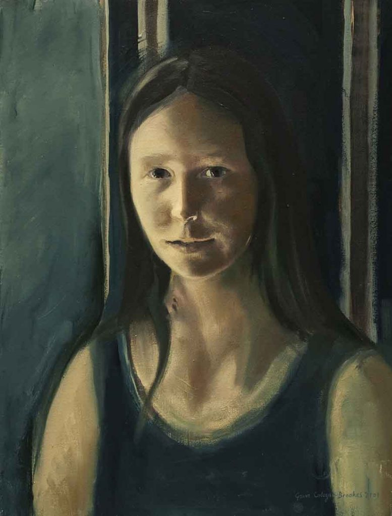 Daughter, Lougratte - Oil Portrait Painting by Gavin Cologne-Brookes