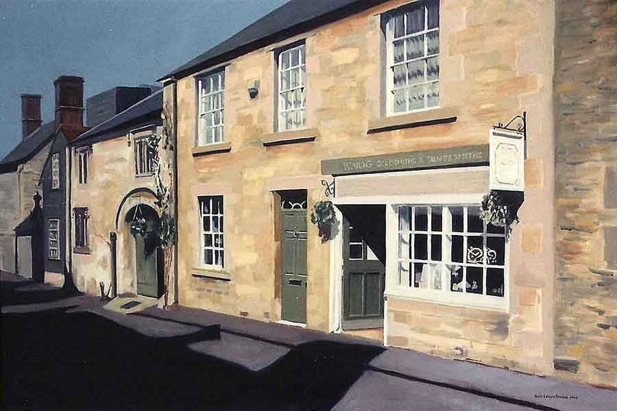 East Street, Lacock - Oil Painting by Gavin Cologne-Brookes