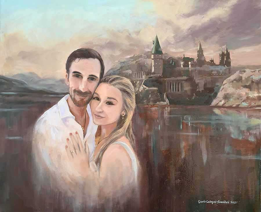 Engagement Portrait - Oil Painting by Gavin Cologne-Brookes