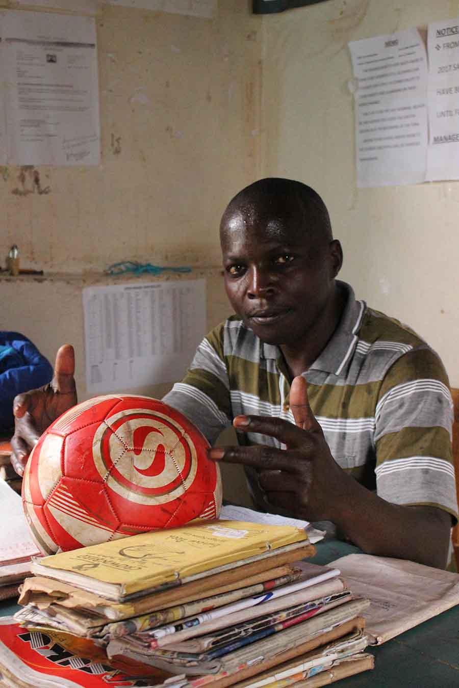 Football Captain, Kitale - Photographs by Gavin Cologne-Brookes