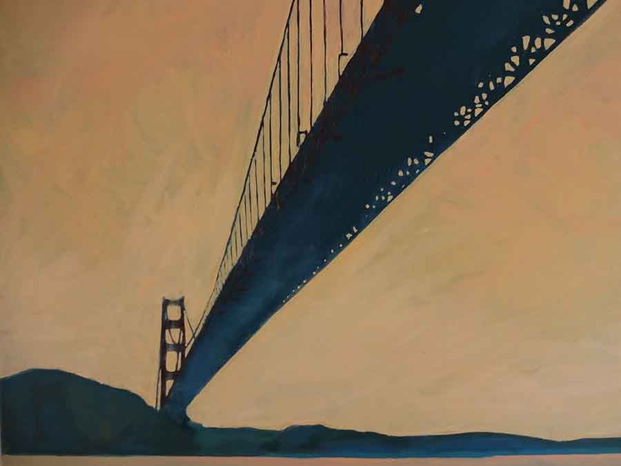 Golden Gate Evening - Oil Painting by Gavin Cologne-Brookes