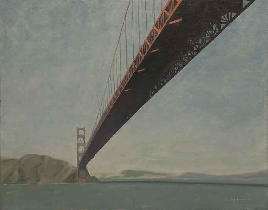 Golden Gate Morning - Oil Painting by Gavin Cologne-Brookes