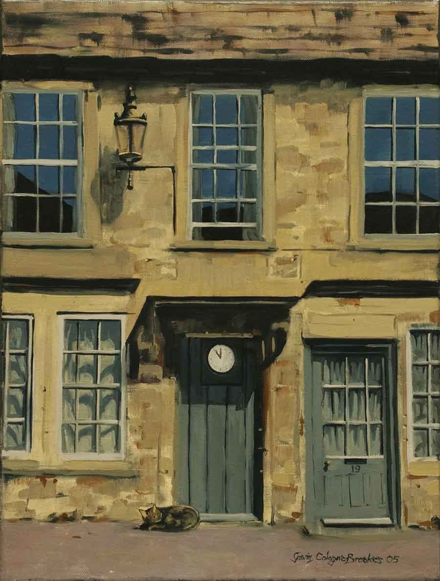 High Noon with Cat - Oil Painting by Gavin Cologne-Brookes
