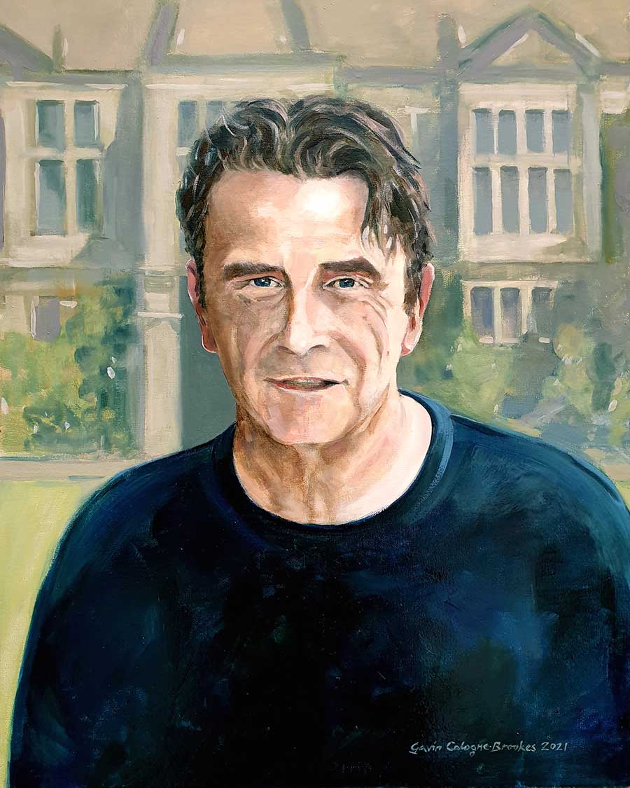 John Strachan at Corsham Court - Oil Painting by Gavin Cologne-Brookes