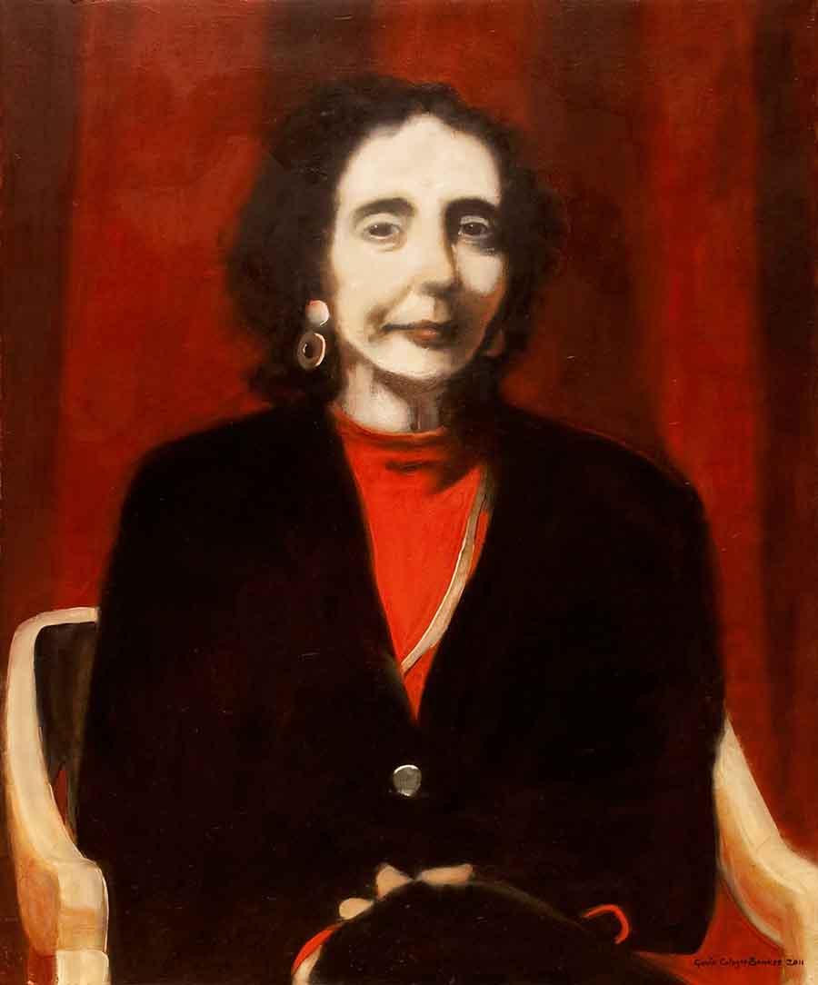 Joyce Carol Oates - Oil Portrait Painting by Gavin Cologne-Brookes