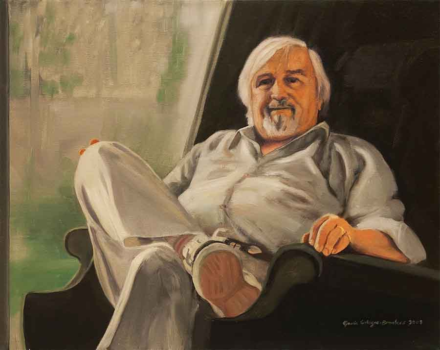 Keith - Oil Portrait Painting by Gavin Cologne-Brookes