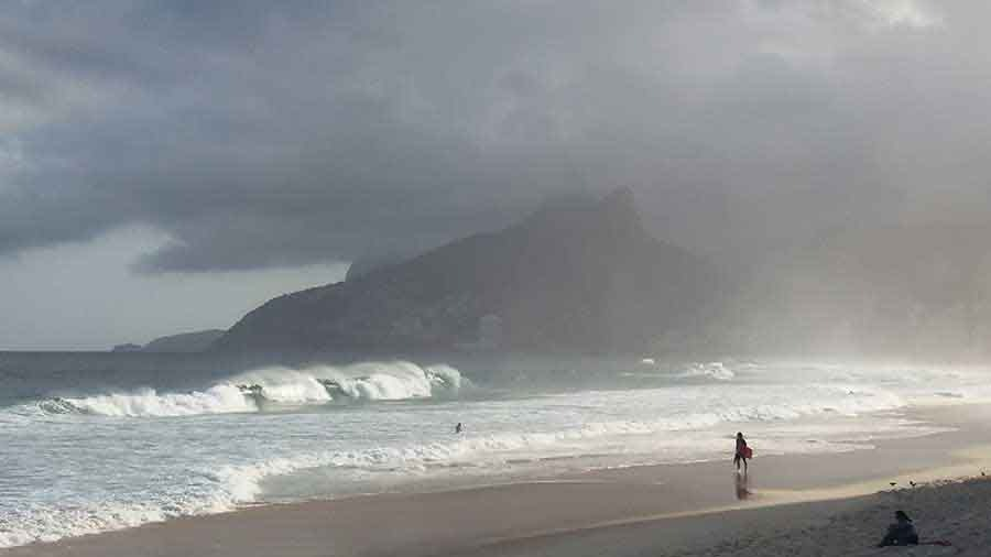 Ipanema and Leblon from Abrador, Rio - Photograph by Gavin Cologne-Brookes
