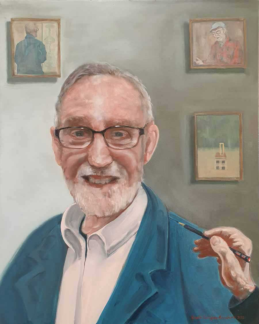 Michael Pennie - Oil Painting by Gavin Cologne-Brookes
