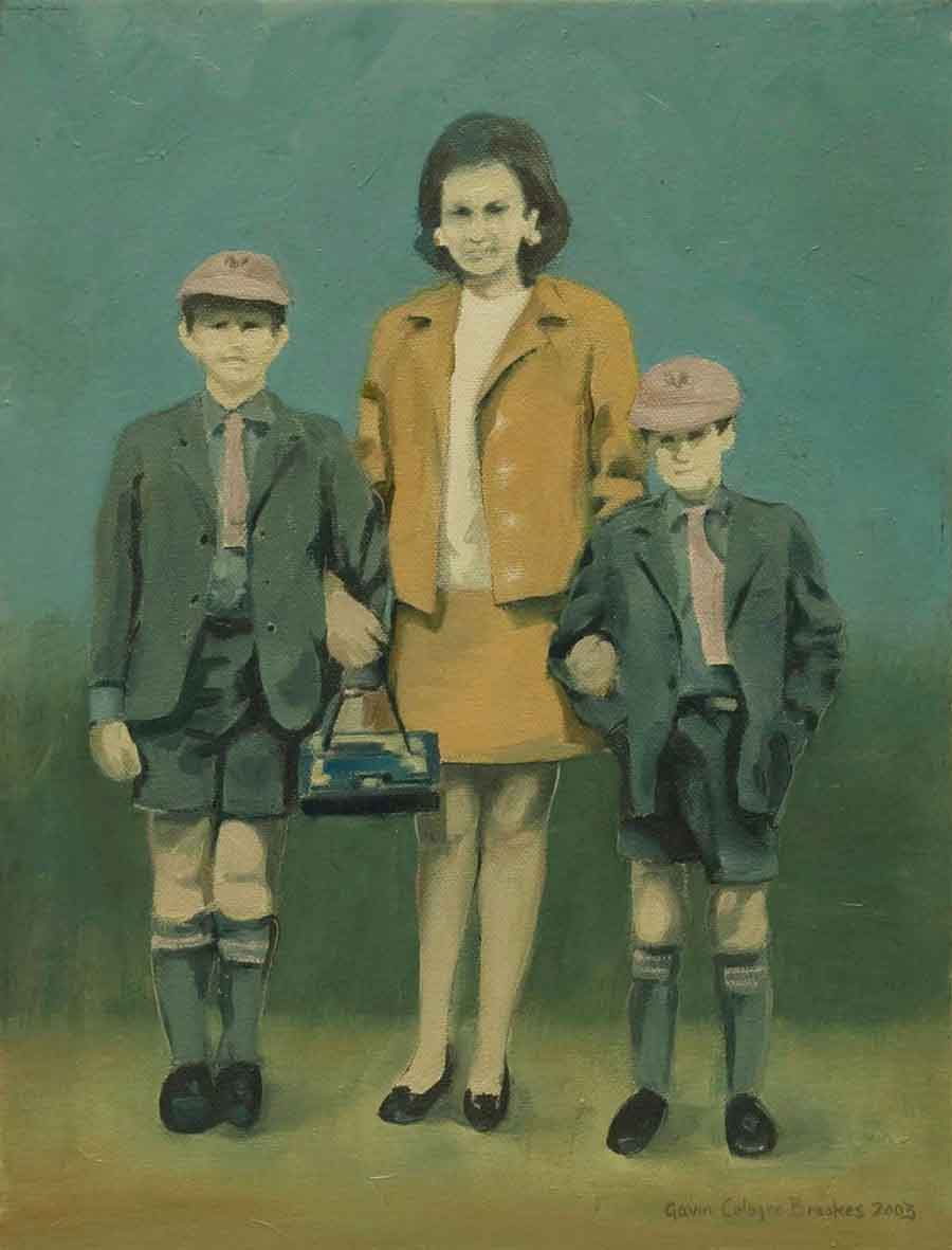 Mother and Sons - Oil Painting by Gavin Cologne-Brookes