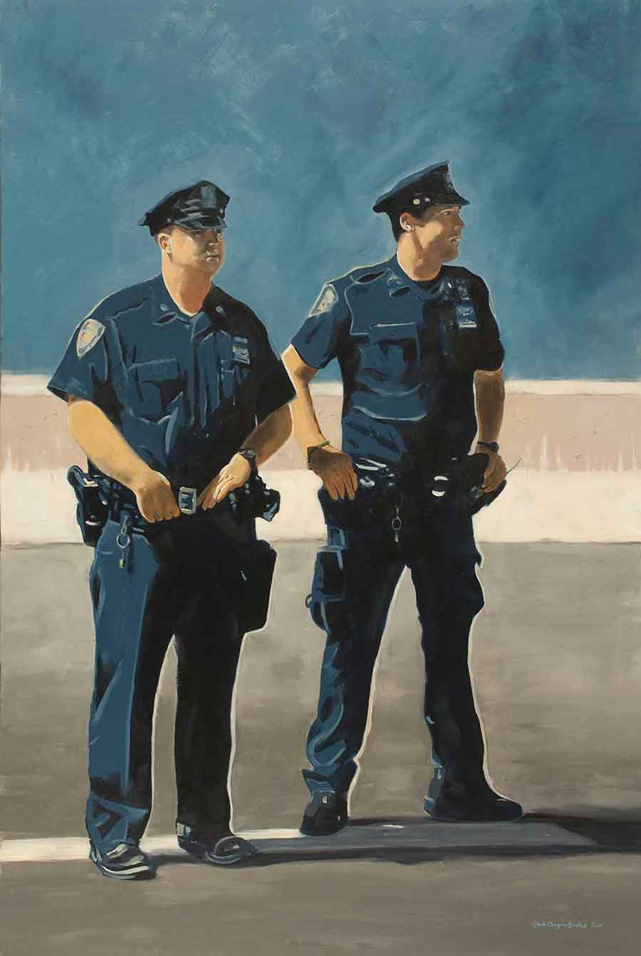 NYPD - Oil Painting by Gavin Cologne-Brookes