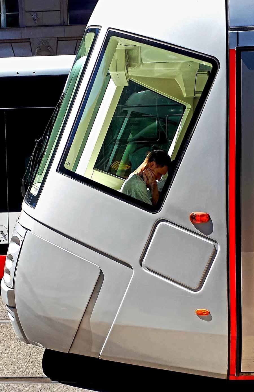 Prague Tram Passenger - Photograph by Gavin Cologne-Brookes