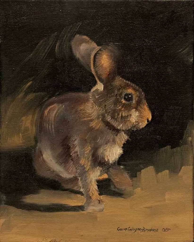 Rabbit, France - Oil Painting by Gavin Cologne-Brookes