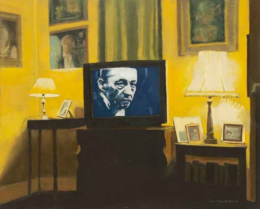Rachmaninov at Home - Oil Portrait Painting by Gavin Cologne-Brookes