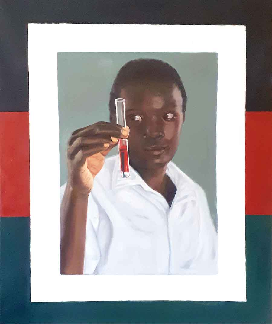 Science Lesson, Kitale - Oil Painting by Gavin Cologne-Brookes