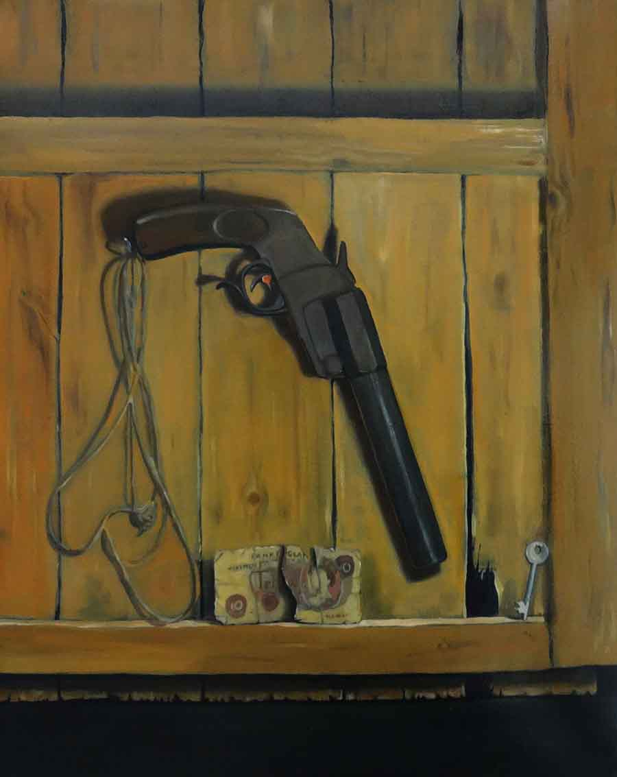 Still Life with Flare Gun - Oil Painting by Gavin Cologne-Brookes