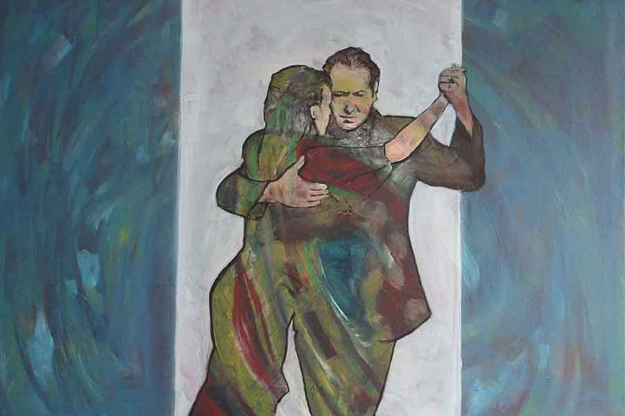 Tango, Buenos Aires 2 - Oil Painting by Gavin Cologne-Brookes