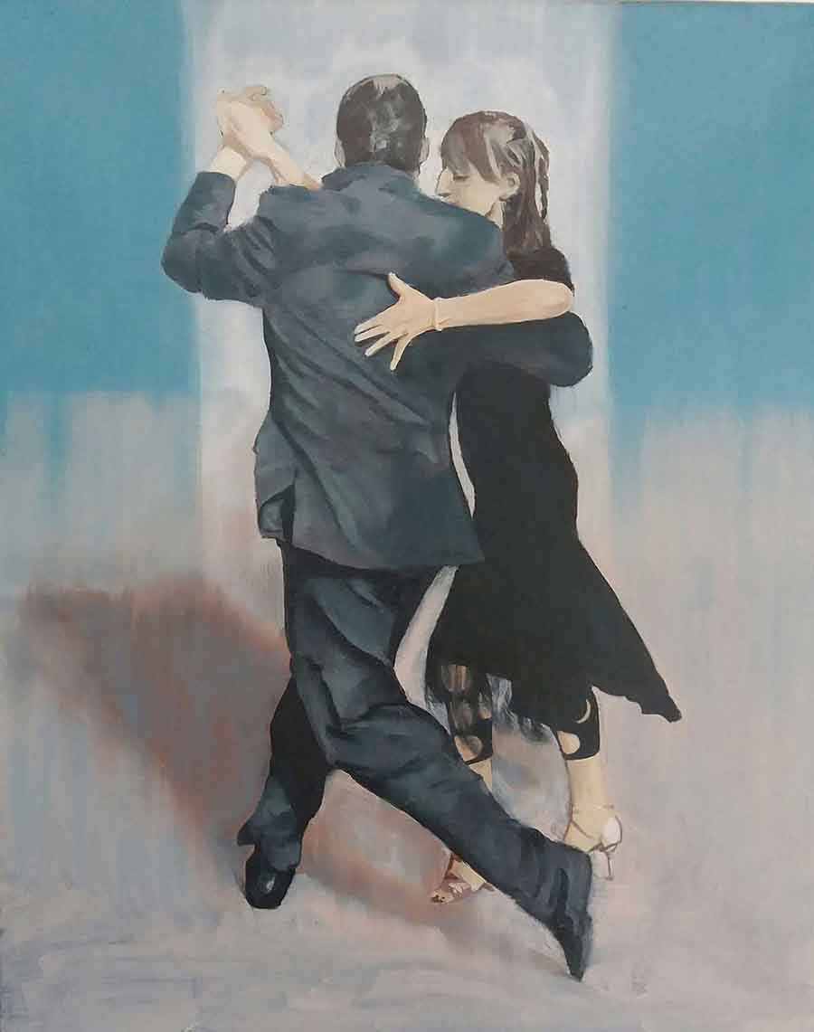 Tango, Buenos Aires  1- Oil Painting by Gavin Cologne-Brookes