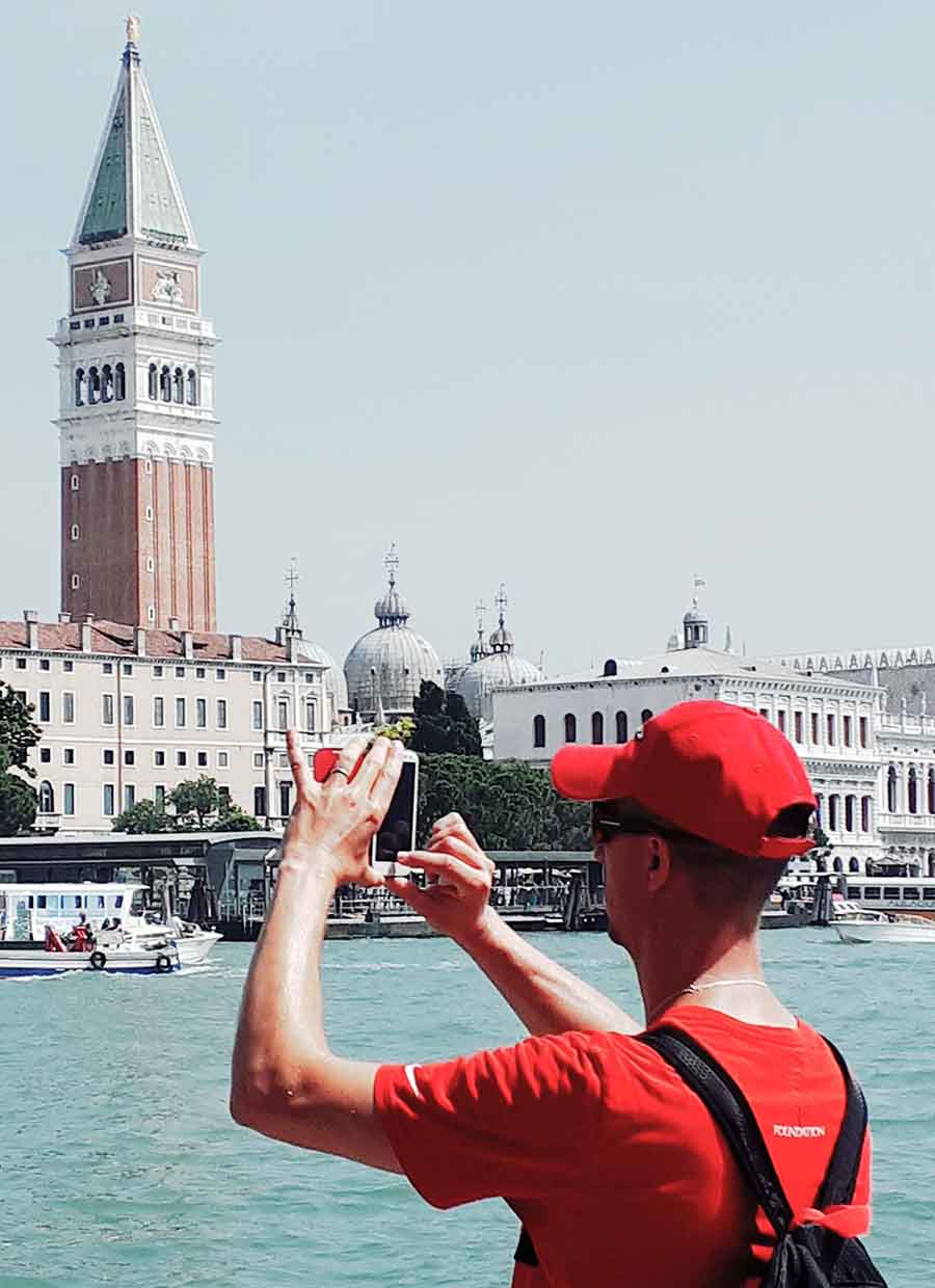 Tourist, Venice - Photographs by Gavin Cologne-Brookes