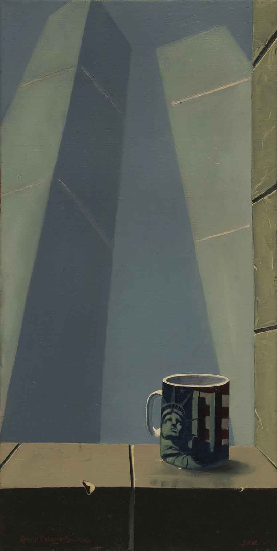 Twin Towers - Oil Painting by Gavin Cologne-Brookes