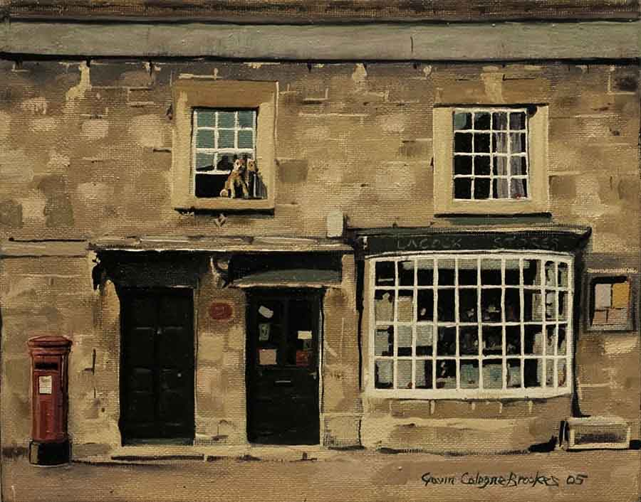 Village Shop - Oil Painting by Gavin Cologne-Brookes