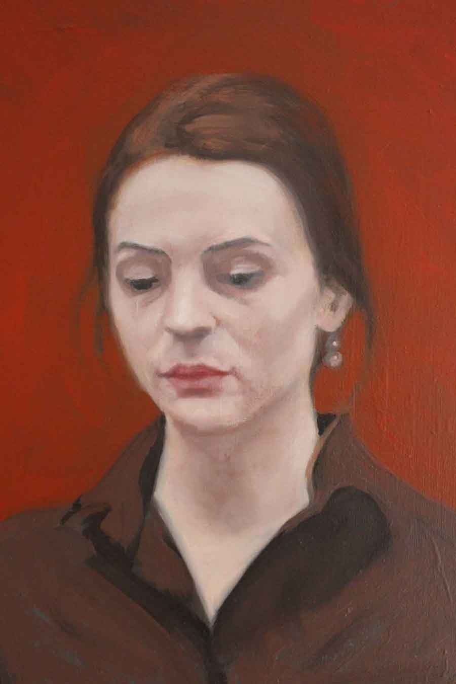 Waitress, Bucharest - Oil Painting by Gavin Cologne-Brookes