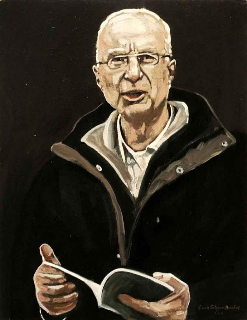 William Heyen - Oil Portrait Painting by Gavin Cologne-Brookes