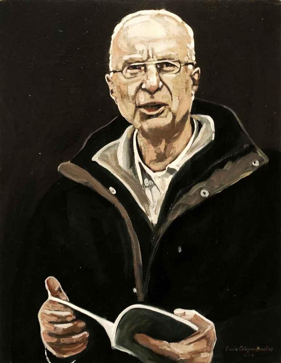 William Heyen - Oil Portrait Painting by Gavin Cologne-Brookes