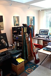 Studio of writer and artist Gavin Cologne-Brookes