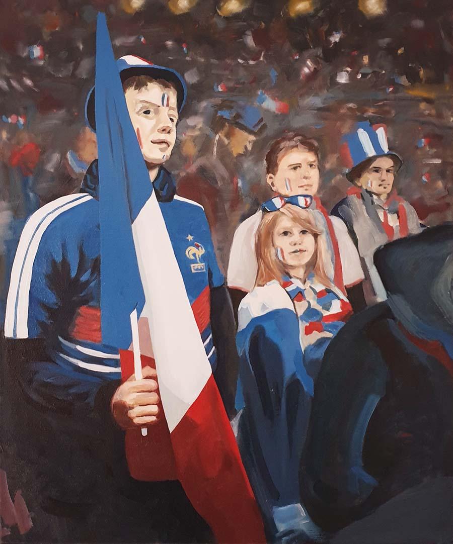 Allez Les Bleus - paintings by Gavin Cologne-Brookes