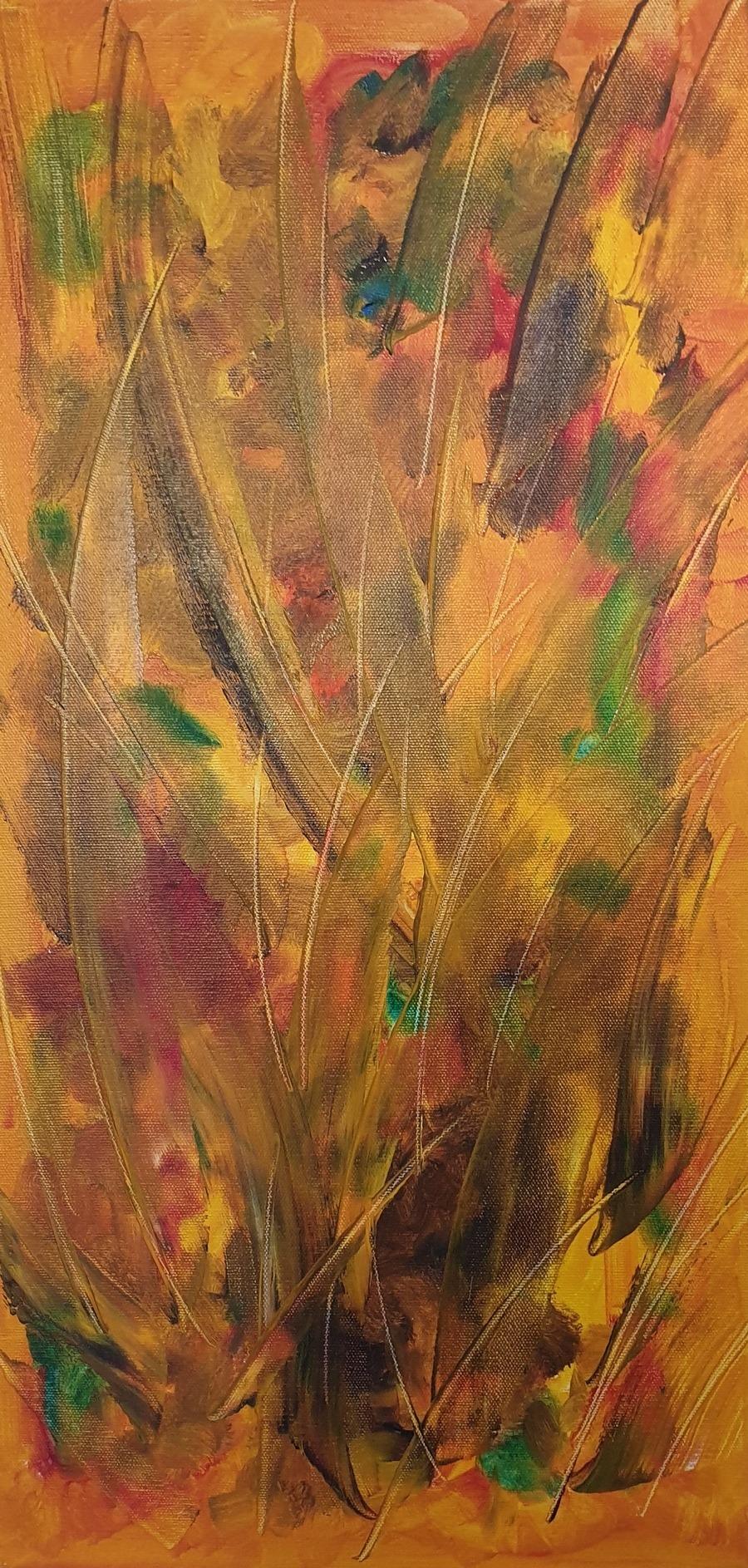 L'Allumage du Feu - Painting by Gavin Colgne-Brookes