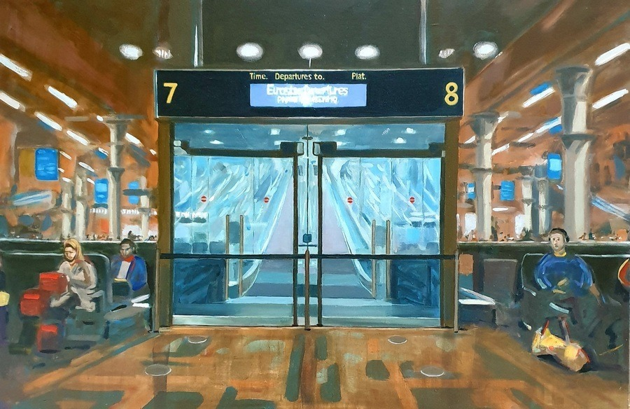 Eurostar - paintings by Gavin Cologne-Brookes