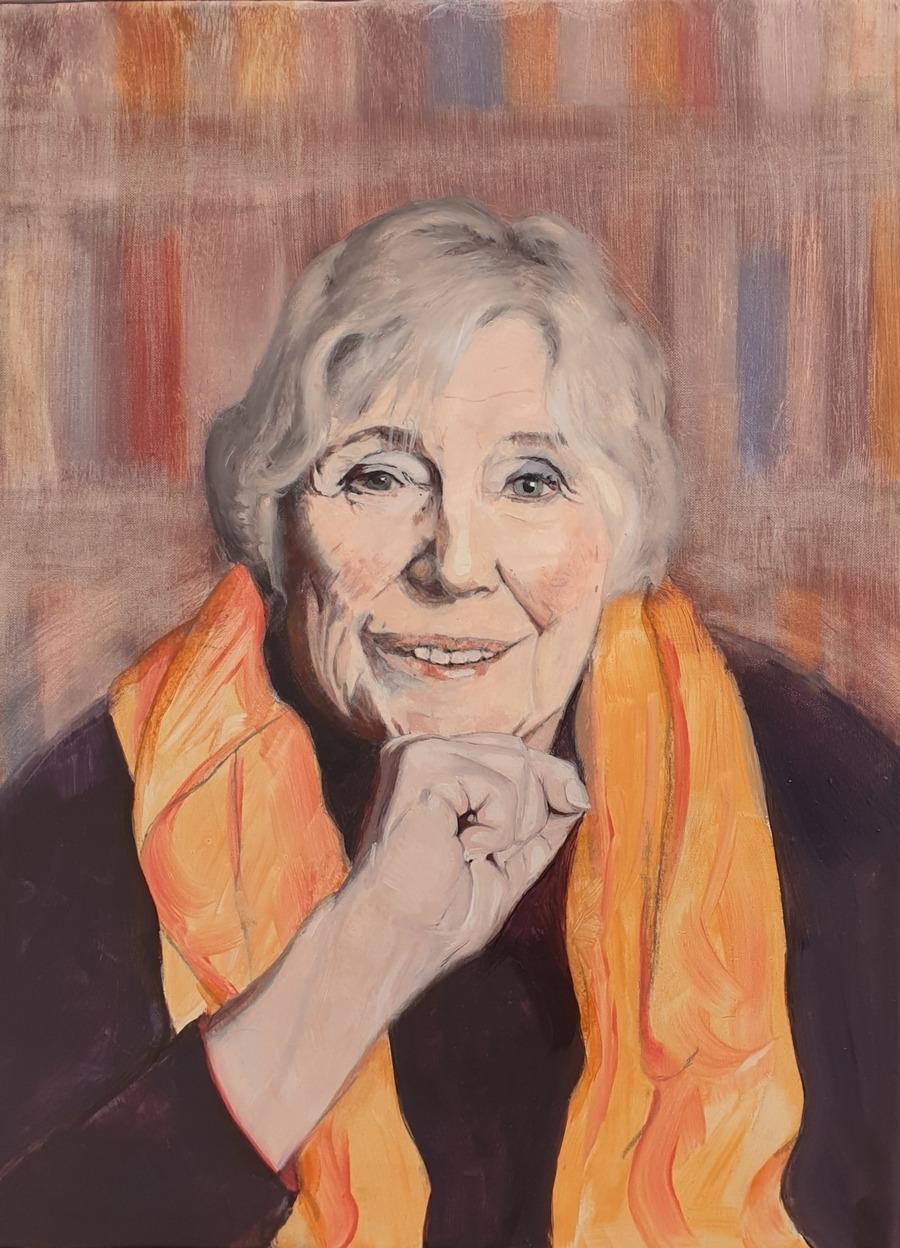 Portrait of Fay Weldon - by Gavin Cologne-Brookes