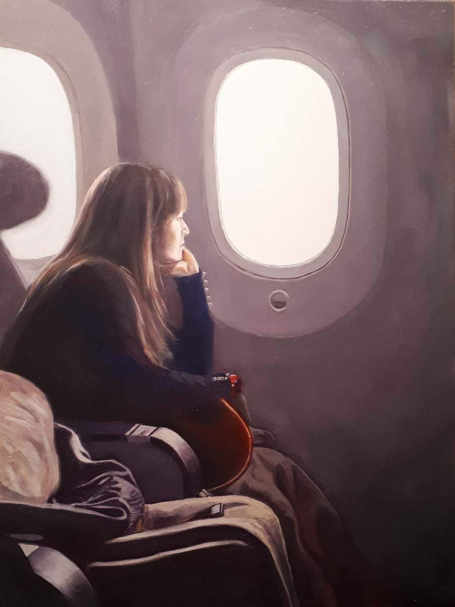 Flight Home - paintings by Gavin Cologne-Brookes