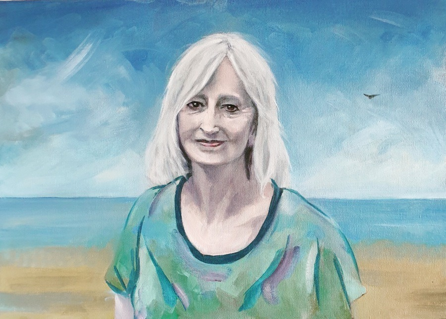 Portrait of Maggie Gee - by Gavin Cologne-Brookes