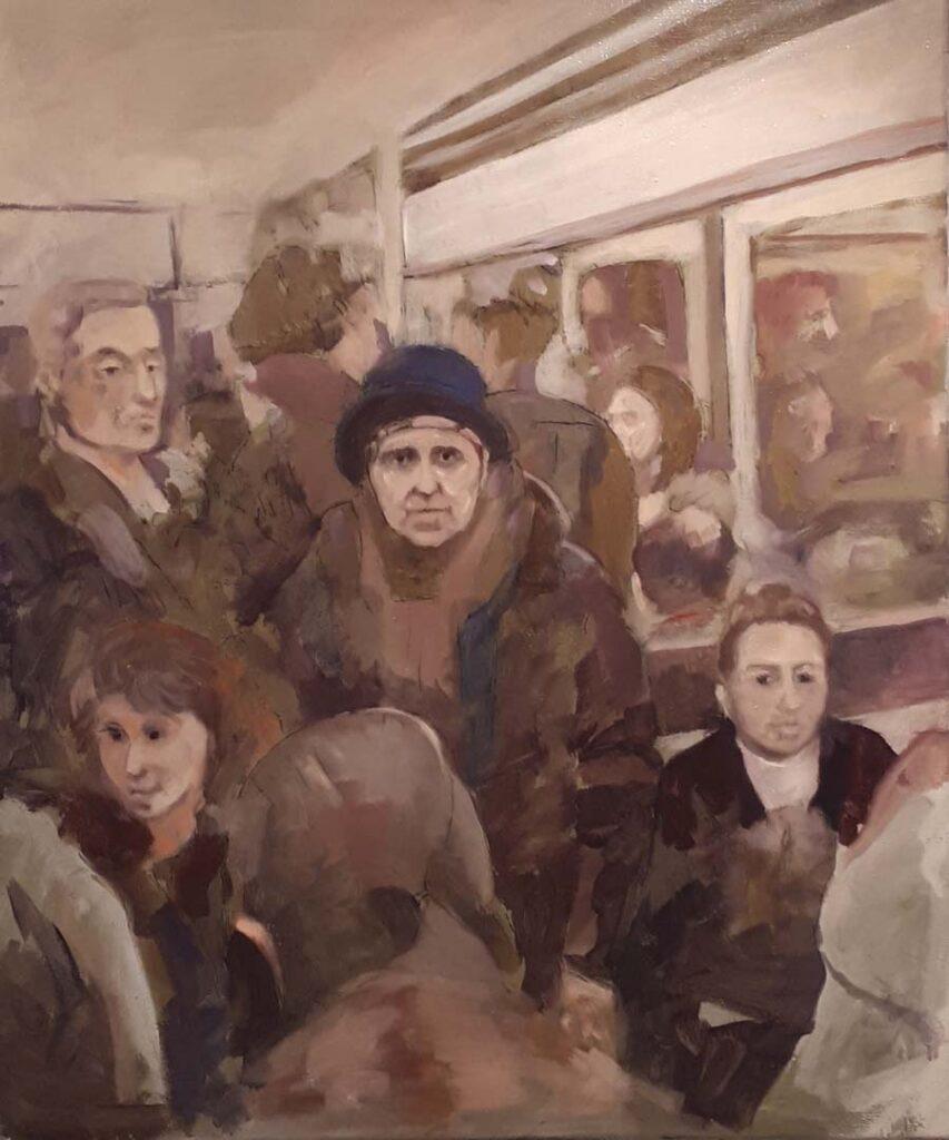 Métro - paintings by Gavin Cologne-Brookes