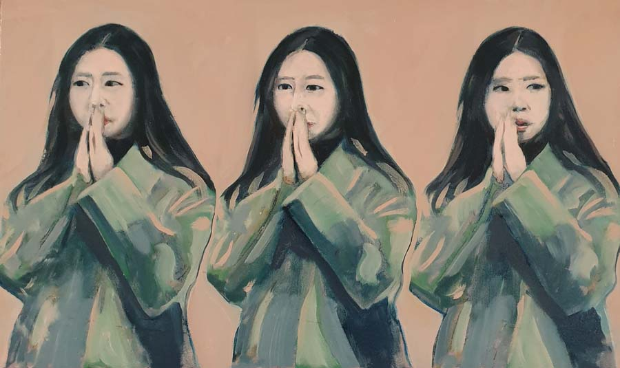 Montmartre Prayer - paintings by Gavin Cologne-Brookes