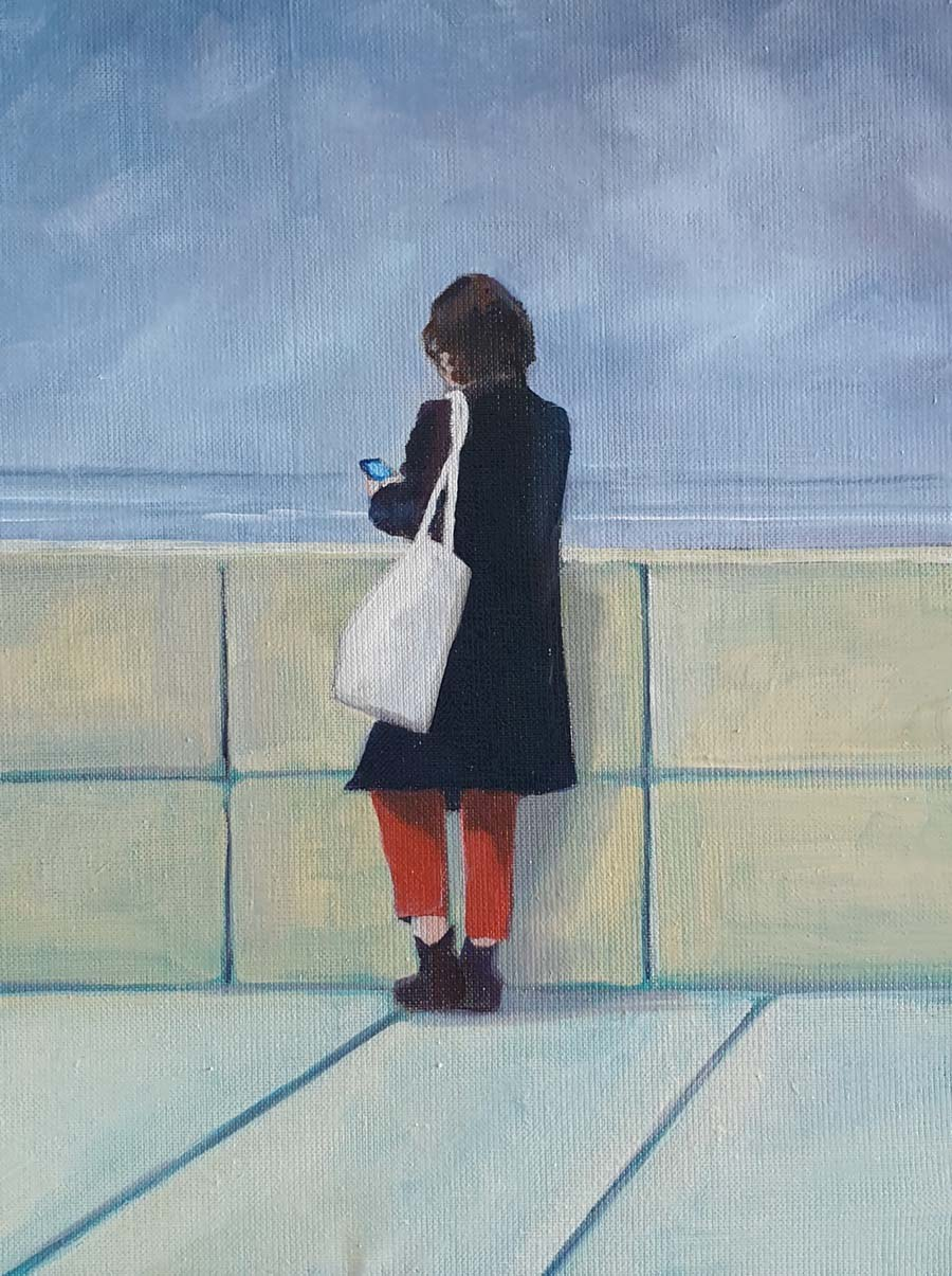 Normandy Phone Call - paintings by Gavin Cologne-Brookes