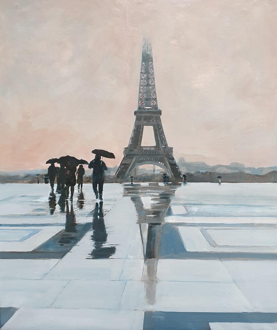 Trocadero Rain - paintings by Gavin Cologne-Brookes