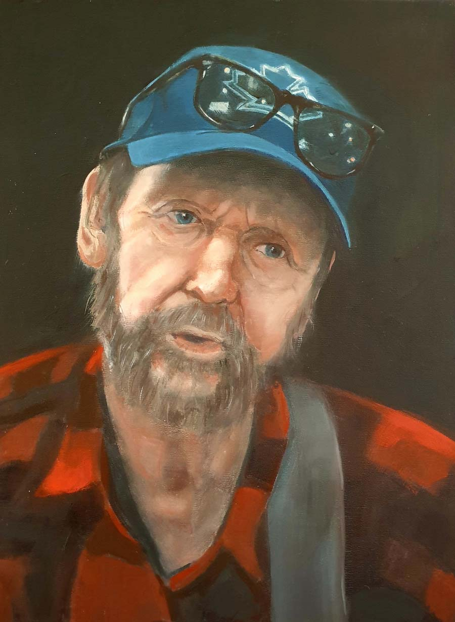 Vancouver Busker - paintings by Gavin Cologne-Brookes