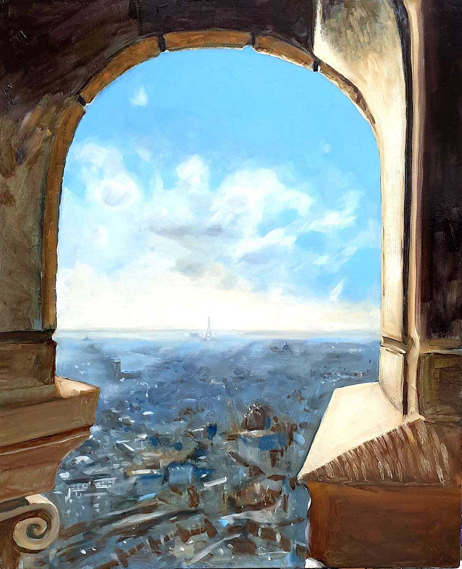 A View from Sacré Coeur - paintings by Gavin Cologne-Brookes